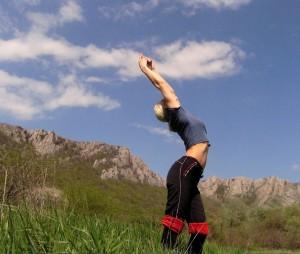 persona che fa stretching