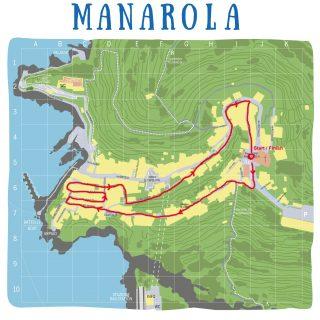 La cartina del percorso del MiniManaTrail