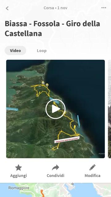 Schermata dell'applicazione per Android