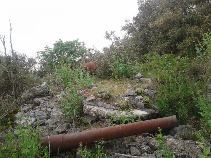 I resti di un cannone della Batteria Santa Croce a La Spezia